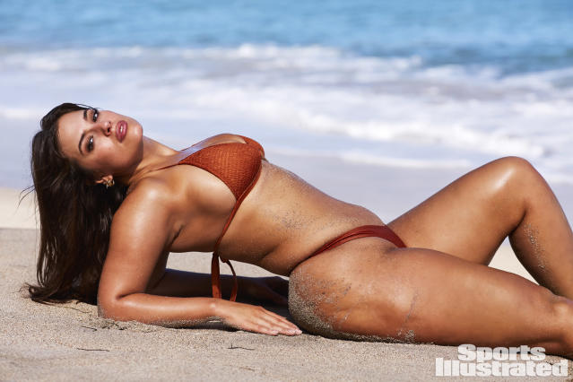 "<p>Ashley Graham was photographed by Josie Clough in Nevis. Swimsuit by <a href=""http://www.saltymermaid.com"" rel=""nofollow noopener"" target=""_blank"" data-ylk=""slk:Salty Mermaid"" class=""link rapid-noclick-resp"">Salty Mermaid</a>.</p>"