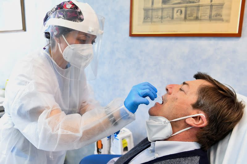 FILE PHOTO: Phase 2 and 3 of Italy's ReiThera coronavirus disease (COVID-19) vaccine commence in Pisa
