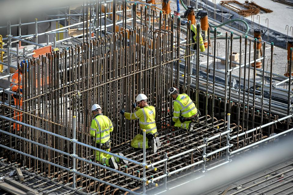 "EMBARGOED TO 0001 MONDAY DECEMBER 9 File photo dated 18/09/18 of construction workers. Fewer than one in four construction workers regularly pay into a workplace pension, showing they are being ""failed"" by the Government, a union has claimed."