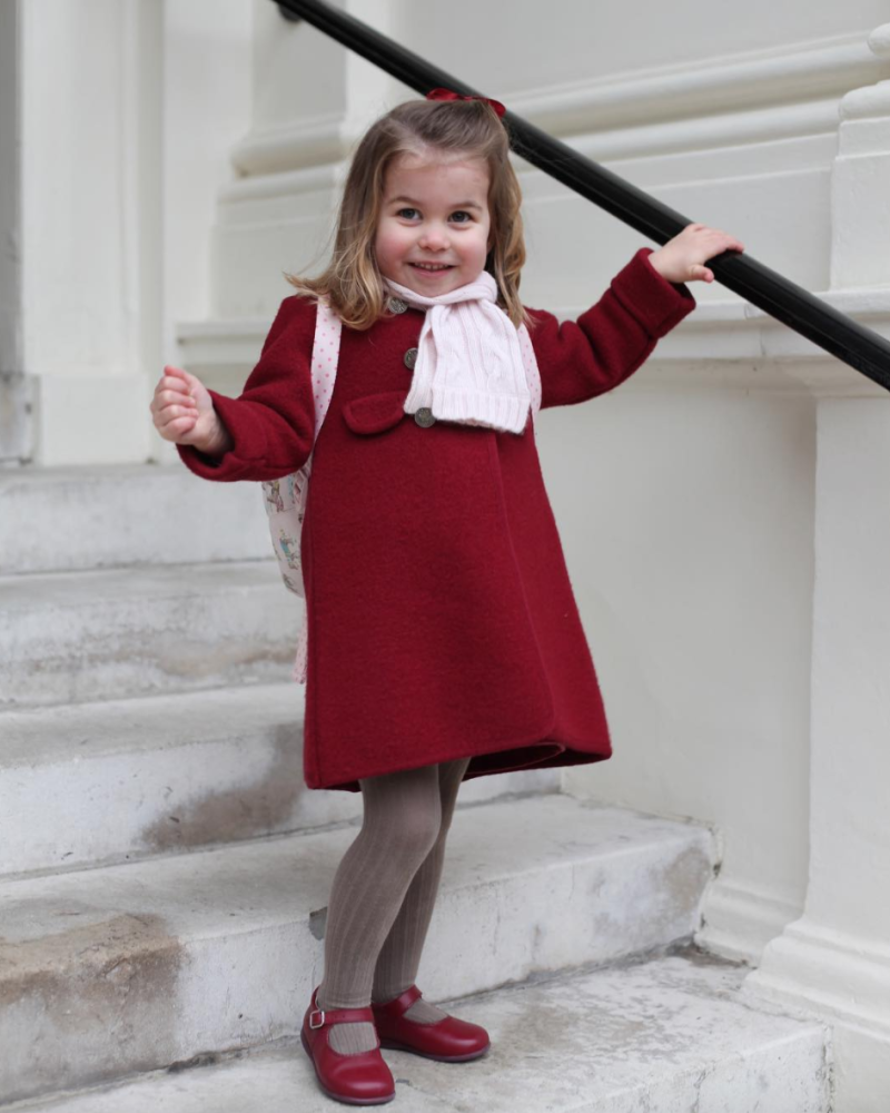 Candid Hd First Day Of School princess charlotte on her first day of school