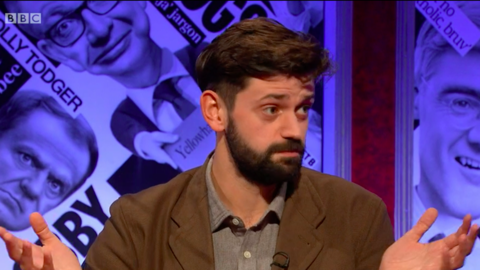 Fin Taylor during an appearance on BBC's Have I Got News For You on Friday (20 November) credit:  BBC/Have I Got News For You