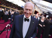 "FILE - Christopher Plummer arrives at the Oscars on March 4, 2018, in Los Angeles. Plummer, the dashing award-winning actor who played Captain von Trapp in the film ""The Sound of Music"" and at 82 became the oldest Academy Award winner in history, has died. He was 91. Plummer, the dashing award-winning actor who played Captain von Trapp in the film ""The Sound of Music"" and at 82 became the oldest Academy Award winner in history, has died. He was 91. Plummer died Friday morning, Feb. 5, 2021, at his home in Connecticut with his wife, Elaine Taylor, by his side, said Lou Pitt, his longtime friend and manager. (Photo by Charles Sykes/Invision/AP, File)"