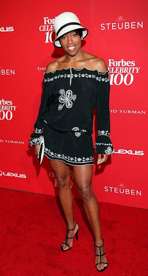 "What's up with all these hideous headpieces? Not even ""227"" alum Regina King -- whom I adore -- can pull of this embarrassing outfit. Arnold Turner/<a href=""http://www.wireimage.com"" target=""new"">WireImage.com</a> - June 8, 2011"
