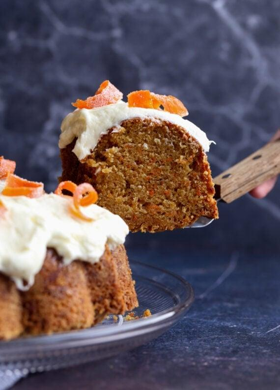 "<p>There's nothing quite like a rich pound cake to finish off a hearty meal. This recipe marries pound and carrot cake to make a drool-worthy dessert.</p> <p><strong>Get the recipe</strong>: <a href=""https://cookiesandcups.com/carrot-pound-cake/"" class=""link rapid-noclick-resp"" rel=""nofollow noopener"" target=""_blank"" data-ylk=""slk:carrot pound cake"">carrot pound cake</a></p>"