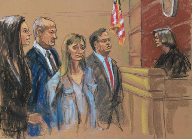 Allison Mack in court on Friday, April 20. (Photo: Jane Rosenberg)