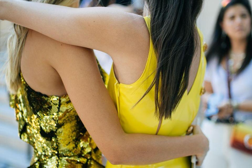 Pops of yellow at Paris Couture Week earlier this summer. - Credit: WWD
