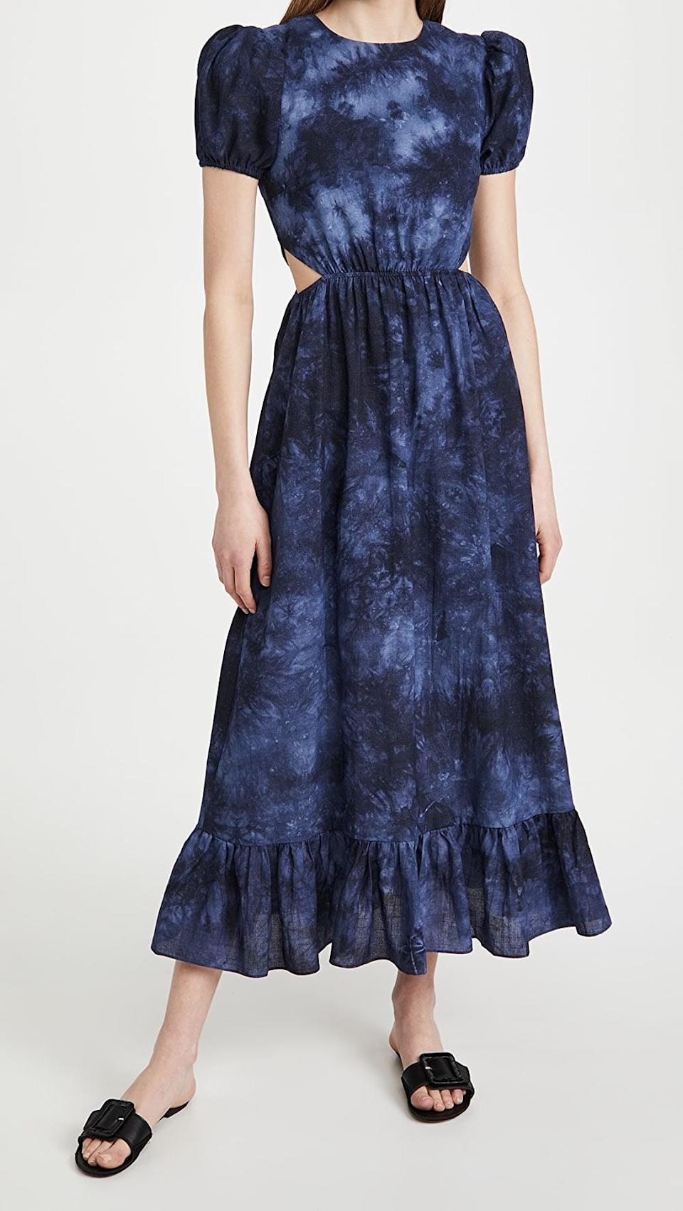 <p>We're dreaming about this moody <span>Likely Rosa Dress</span> ($218).</p>