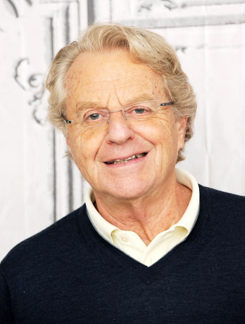 Jerry Springer and NBCUniversal are being sued by the family of a man who say his appearance on the show led to his suicide. Source: Getty Images