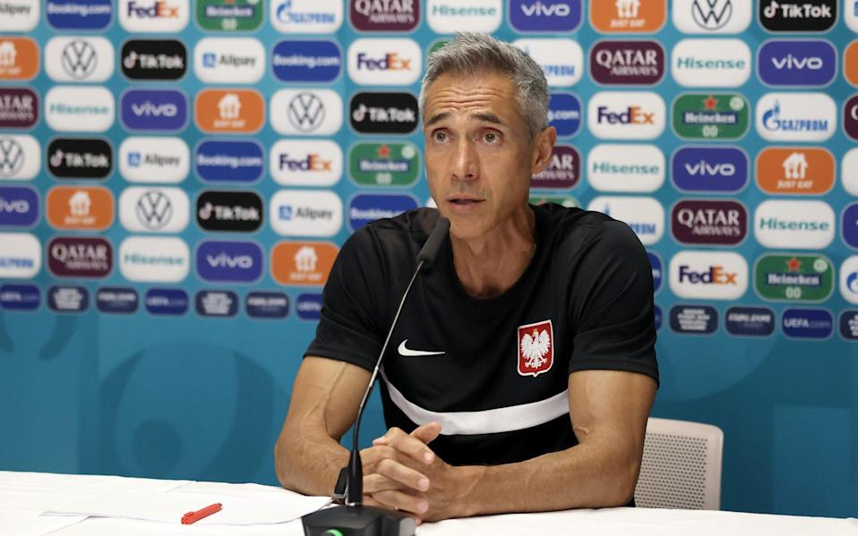 Poland boss Paulo Sousa faces the press - GETTY IMAGES