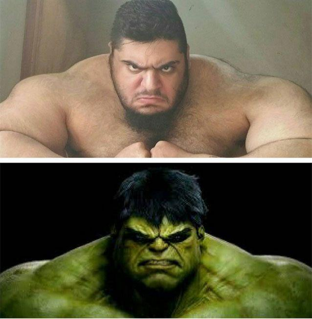 'Iranian Hulk' Sajad Gharibi has become a social media sensation for his sheer mass. Pictures: Instagram