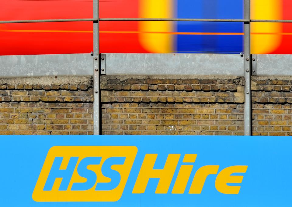 A HSS Hire shop sign in Vauxhall, London, as the tool rental firm said it was on track to open new branches at a rate of almost one a week, after floating on the stock exchange earlier this year.