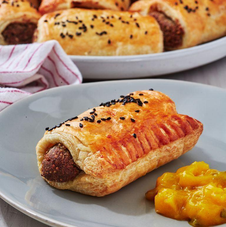 """<p><a href=""""https://www.delish.com/uk/food-news/a30116939/free-greggs-delivered-just-eat/"""" rel=""""nofollow noopener"""" target=""""_blank"""" data-ylk=""""slk:Greggs"""" class=""""link rapid-noclick-resp"""">Greggs</a> vegan sausage rolls literally took the world by storm when they were released. Who would have thought people would go so crazy for those pastry wrapped <a href=""""https://www.delish.com/uk/food-news/a29140224/quorn-wraps-sandwiches/"""" rel=""""nofollow noopener"""" target=""""_blank"""" data-ylk=""""slk:Quorn"""" class=""""link rapid-noclick-resp"""">Quorn</a> sausages so much? </p><p>And like everyone else, we did too, so went about trying to create our very own <a href=""""https://www.delish.com/uk/vegan-recipes/"""" rel=""""nofollow noopener"""" target=""""_blank"""" data-ylk=""""slk:vegan"""" class=""""link rapid-noclick-resp"""">vegan</a> sausage roll, in homage to our favourite pastry-based food chain. </p><p>Get the <a href=""""https://www.delish.com/uk/cooking/recipes/a30268442/vegan-sausage-rolls/"""" rel=""""nofollow noopener"""" target=""""_blank"""" data-ylk=""""slk:Vegan Sausage Rolls"""" class=""""link rapid-noclick-resp"""">Vegan Sausage Rolls</a> recipe.</p>"""
