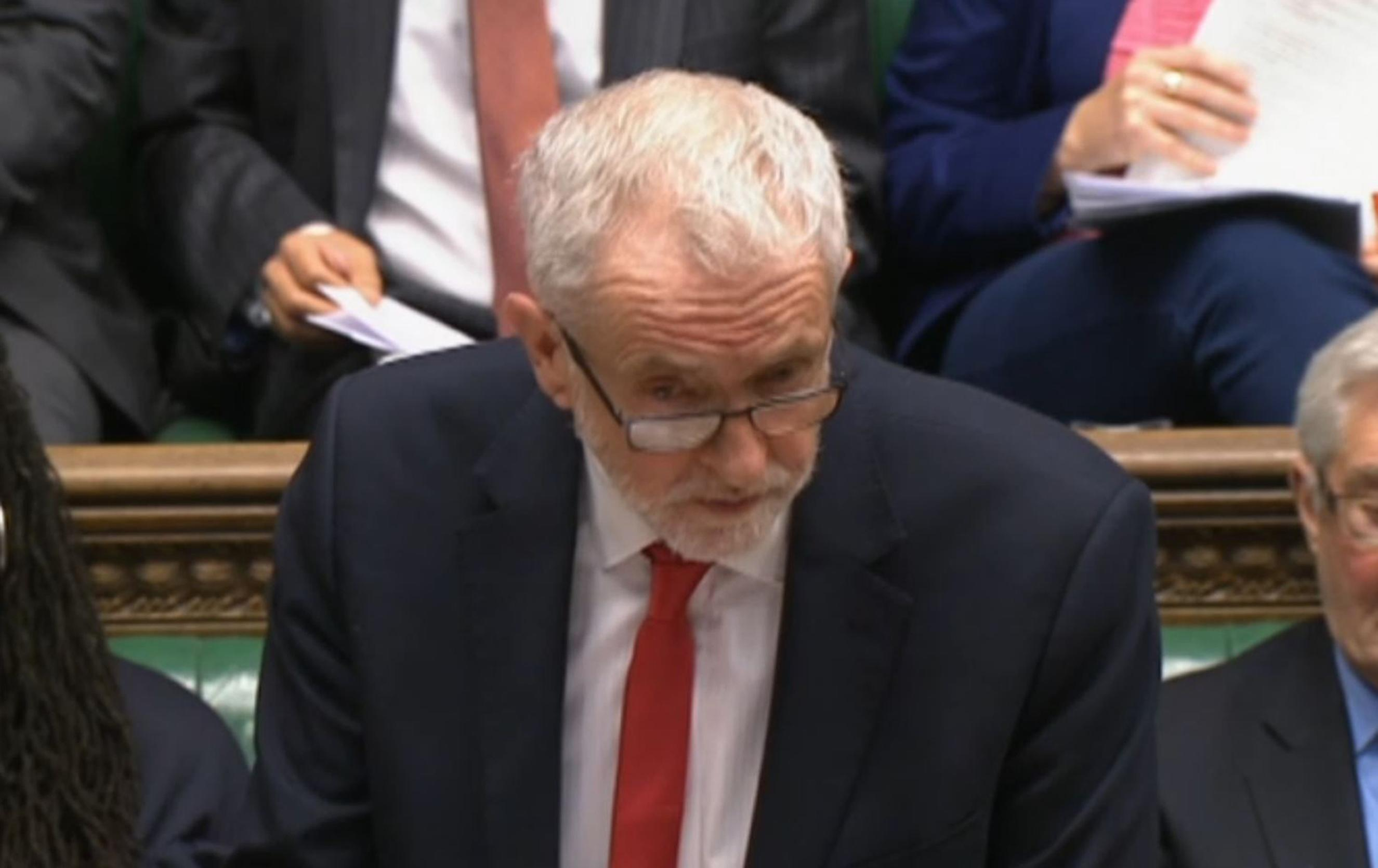 Labour leader Jeremy Corbyn speaks during Prime Minister's Questions in the House of Commons, London. (Photo by House of Commons/PA Images via Getty Images)