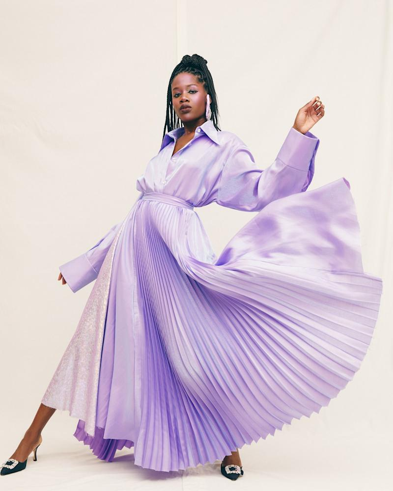 A look from Christopher John Rogers's spring/summer 2020 collection, which marked the designer's New York Fashion Week runway debut in September 2019.