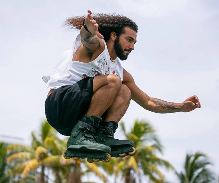 On Monday, June 21, 2021, Reyjafe will skate at Howavera Skateboard Park, with high heat index temperatures throughout South Florida.
