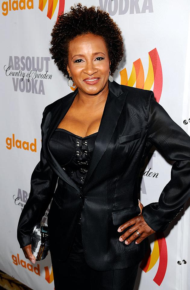 "The hilarious Wanda Sykes revealed she had married a woman at a 2008 rally protesting California's decision to ban gay marriage. ""I was ... not necessarily in the closet, but I was living my life,"" she told the crowd. ""They pissed me off [with Proposition 8]. I said, 'You know what? Now I gotta get in your face.'"" Michael Caulfield/<a href=""http://www.wireimage.com"" target=""new"">WireImage.com</a> - April 17, 2010"