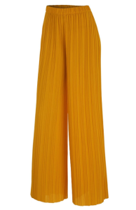 "<span class=""caption"">Made By Johnny Women's Premium Pleated Maxi Wide Leg Palazzo Pants (Mustard)</span> <span class=""credit"">Amazon</span>"