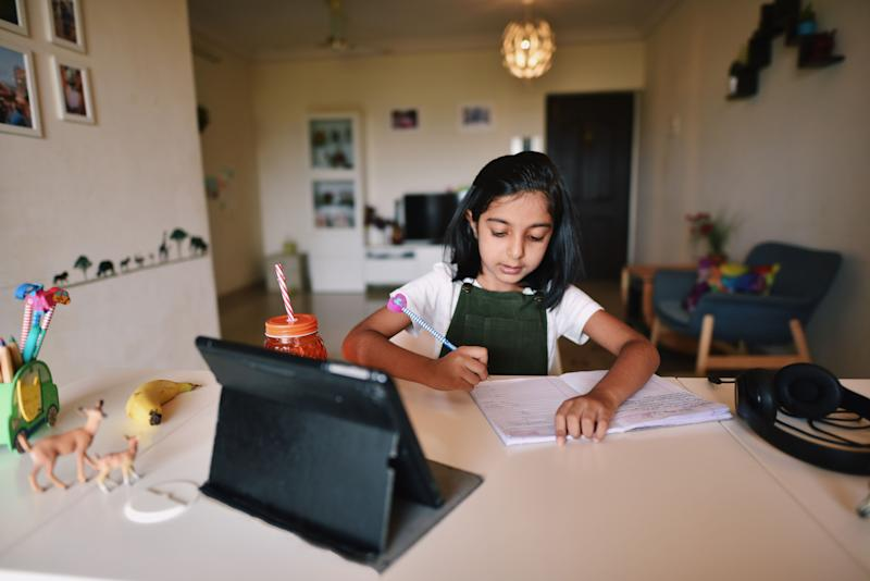 It's important to normalize children's feelings about remote learning.  (Photo: Mayur Kakade via Getty Images)