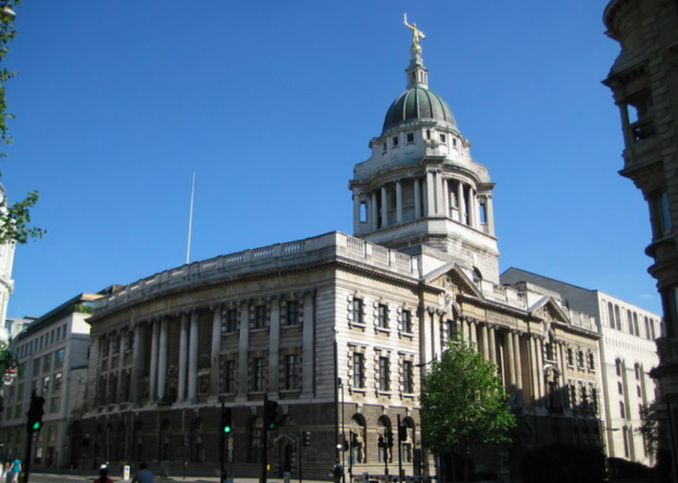 <em>Shepherd is absent from his trial at the Old Bailey (Geograph)</em>