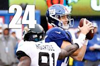 <p>Moving teams too far up or down after one game doesn't make sense because it's just one game. And sometimes it's just a bad matchup. That might've been the case with the Jags. (Eli Manning) </p>