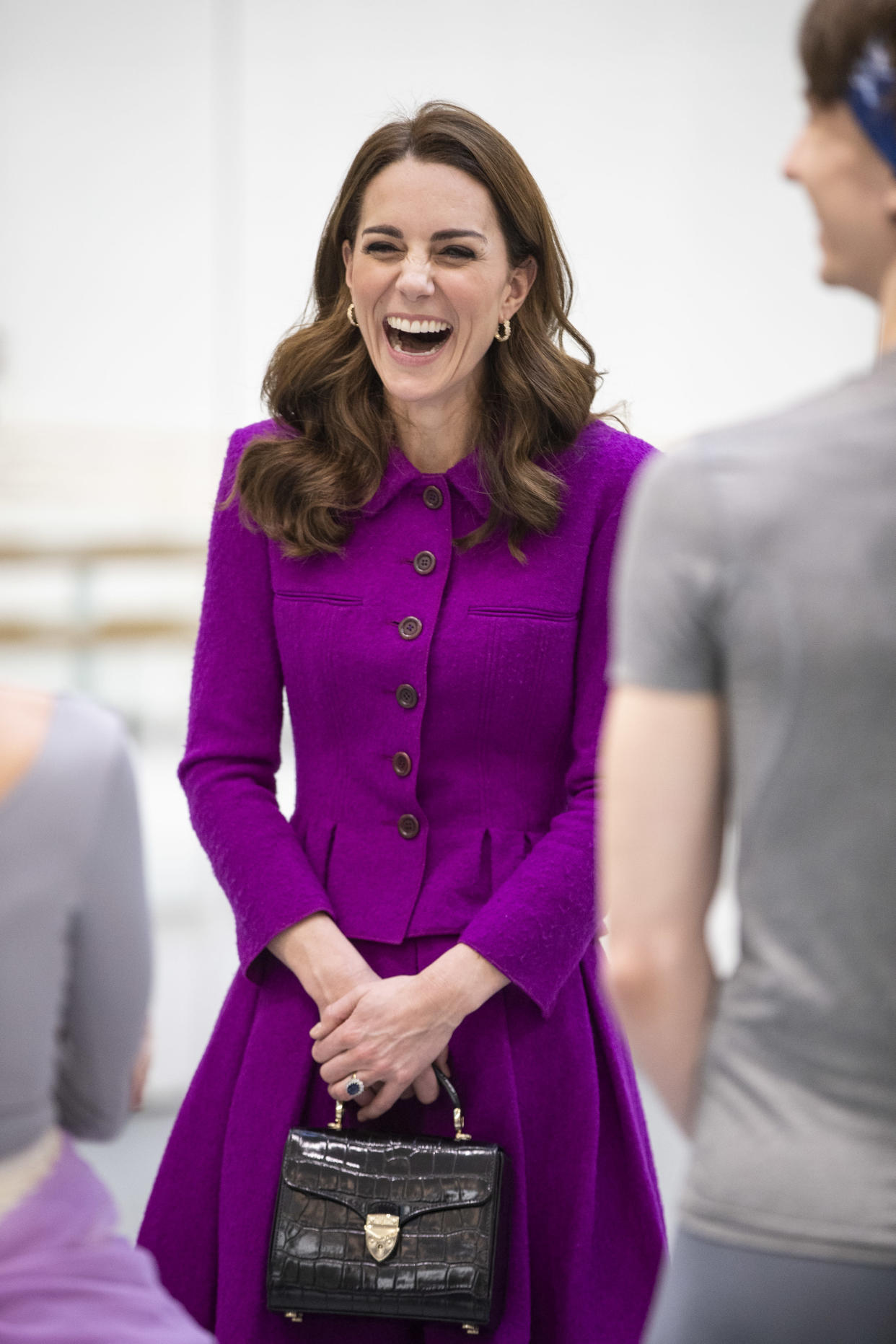 The Duchess of Cambridge visits The Royal Opera House on January 16, 2019 in London with an Aspinal of London bag. (Getty Images)