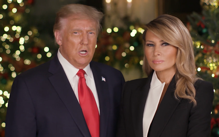 President Donald Trump and First Lady Melania Trump deliver their 2020 Christmas message (The White House)