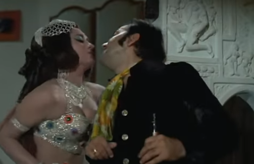 Prem Chopra and Faryal in Nafrat (1973)