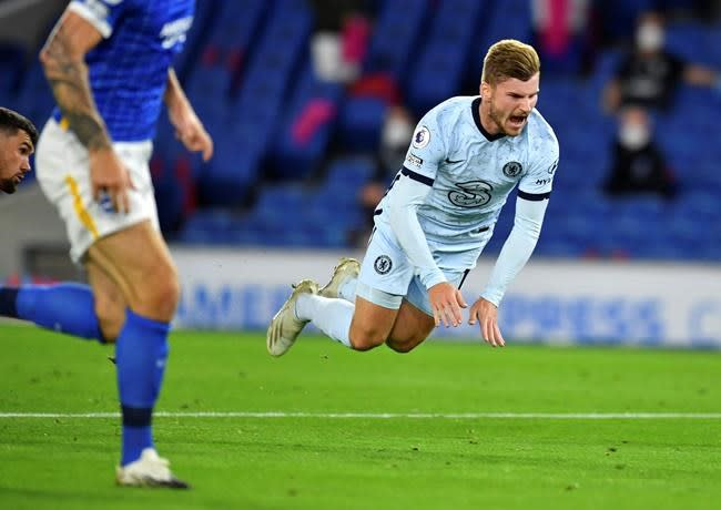 Werner settling in at Chelsea ahead of visit of Liverpool