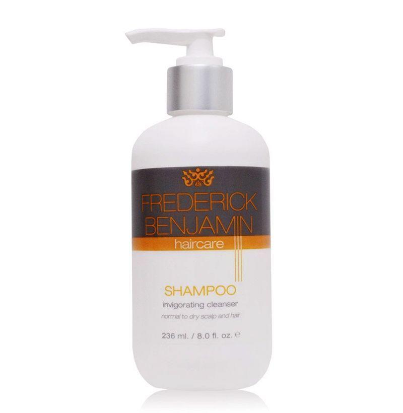 """<p><strong>Frederick Benjamin</strong></p><p>frederickbenjamin.com</p><p><strong>$12.00</strong></p><p><a href=""""https://shop.frederickbenjamin.com/collections/hair-care/products/shampoo-invigorating-cleanser"""" rel=""""nofollow noopener"""" target=""""_blank"""" data-ylk=""""slk:Buy"""" class=""""link rapid-noclick-resp"""">Buy</a></p><p>This naturally-scented shampoo also comes sans any sulfates so it won't unnecessarily strip moisture from your hair, leaving your scalp plenty invigorated post-wash. </p>"""