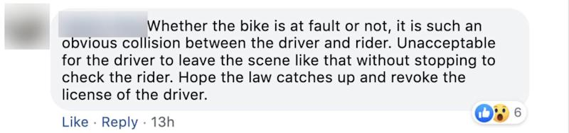 Comment on Oct 2, 2019 road accident.