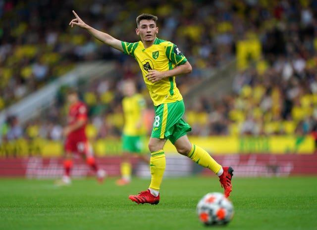 Norwich's on-loan Chelsea midfielder Billy Gilmour was the target of the chants.