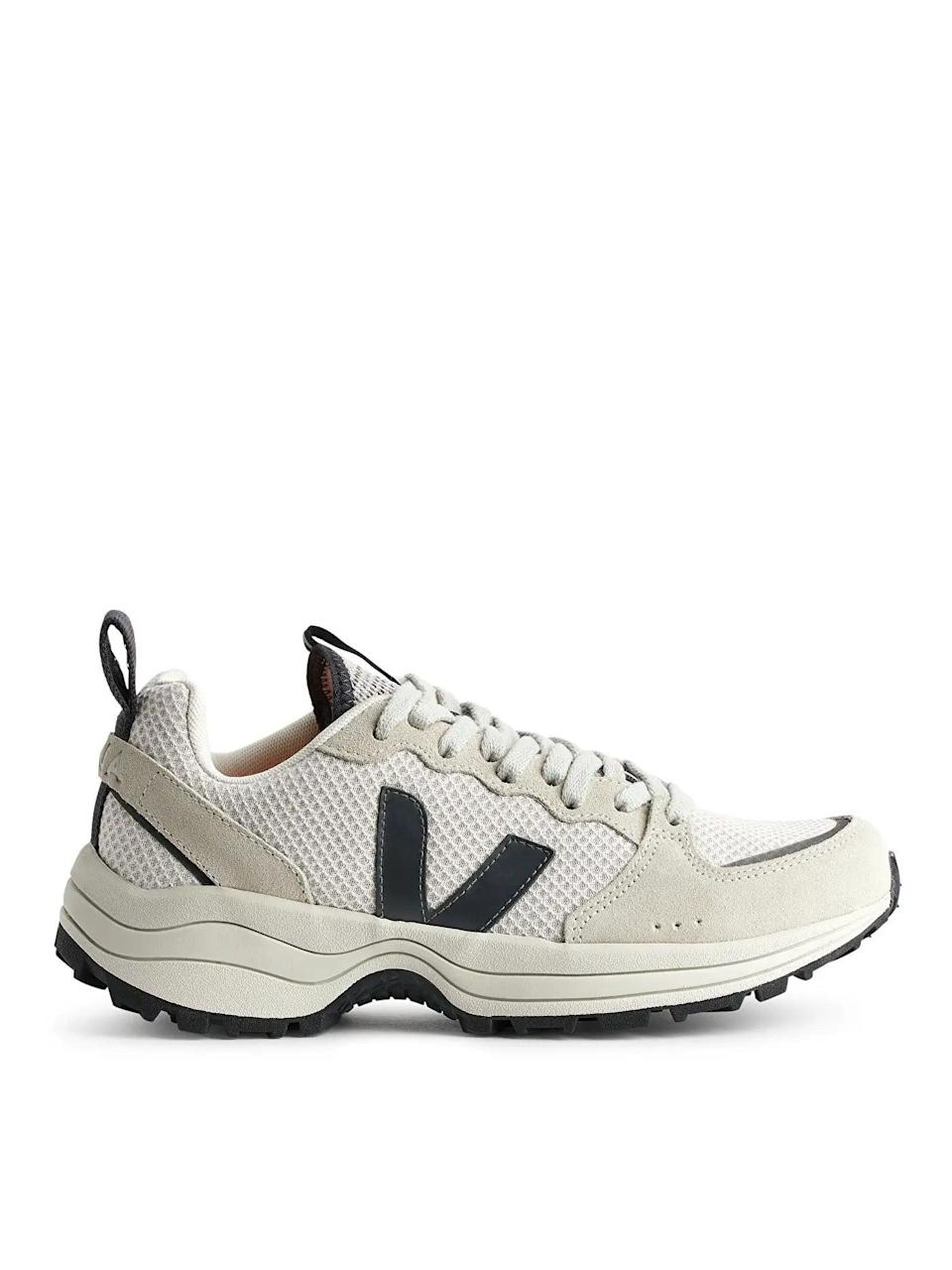 """If I'm going to have to start doing more than 300 steps a day now we're out more, I'd prefer to do so in these dream cloudlike sneaks. <br><br><strong>VEJA</strong> Venturi Trainers, $, available at <a href=""""https://www.arket.com/en_dkk/women/shoes/product.veja-venturi-trainers-black.0841294001.html"""" rel=""""nofollow noopener"""" target=""""_blank"""" data-ylk=""""slk:Arket"""" class=""""link rapid-noclick-resp"""">Arket</a>"""
