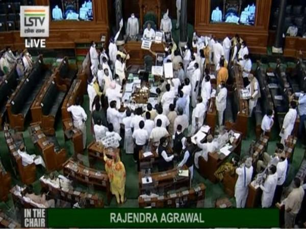 Monsoon Session: LS adjourned till 4 pm amid sloganeering by Opposition MPs