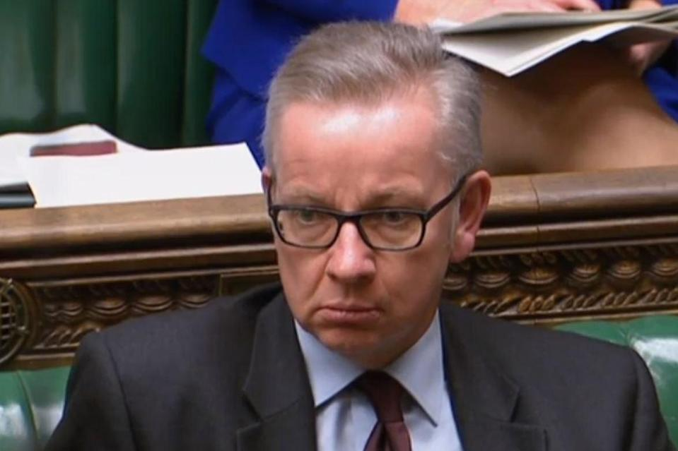 Environment Secretary Michael Gove questioned why Ms Smith's request had been denied (Parliament TV)