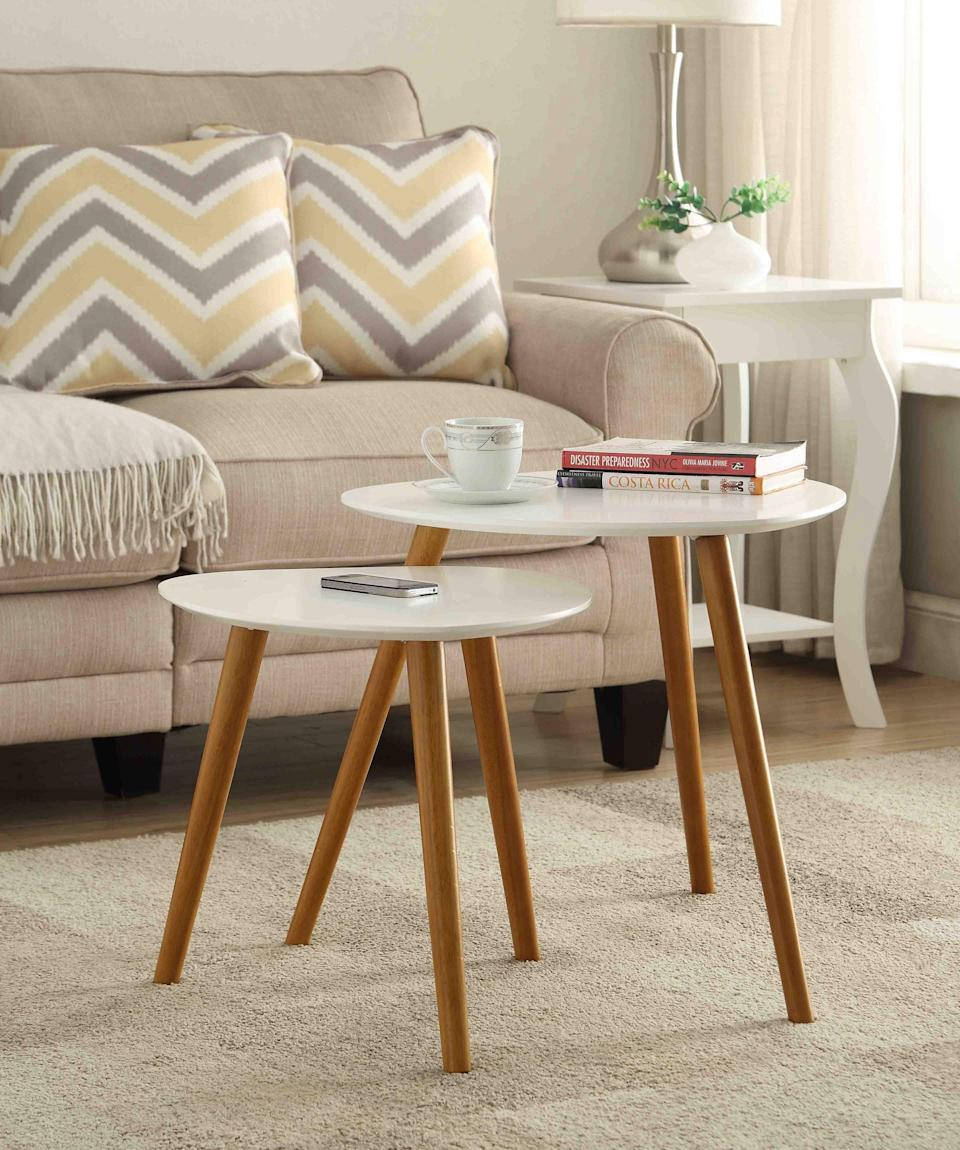 <p>The <span>Convenience Concepts No Tools Oslo Nesting End Tables</span> ($79, originally $89) are so chic and modern.</p>