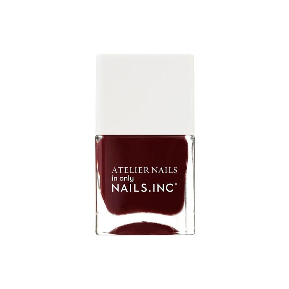 "I'm typically a dark-nail kind of girl, and my favorites are deep reds and maroons. This shade not only compliments my olive-brown complexion perfectly, but it's also a nice pop of color against all my neutral chunky sweaters. <em>—T.G.</em> $15, Nails INC.. <a href=""https://www.nailsinc.com/en/Tailored-To-Perfection-Nail-Polish/m-2576.aspx"" rel=""nofollow noopener"" target=""_blank"" data-ylk=""slk:Get it now!"" class=""link rapid-noclick-resp"">Get it now!</a>"