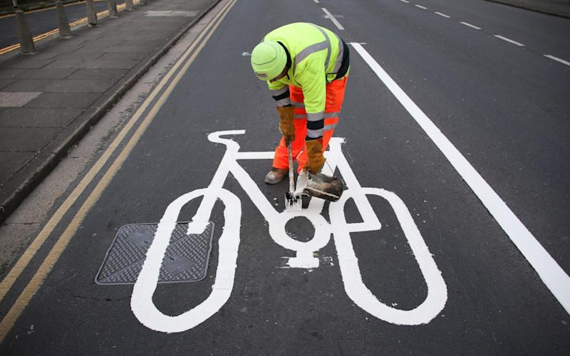 The fines, which are already enforced in London, could be introduced nationwide as the government tries to encourage more environmentally friendly ways of getting to work once the lockdown is lifted - Eddie Mitchell/Eddie Mitchell