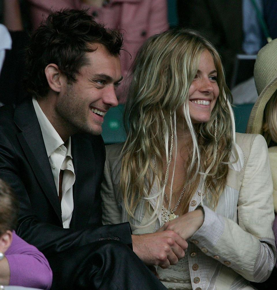 <p><strong>2004</strong> Sienna Miller wore a beige blazer over a dress when she attended alongside then-boyfriend Jude Law.</p>