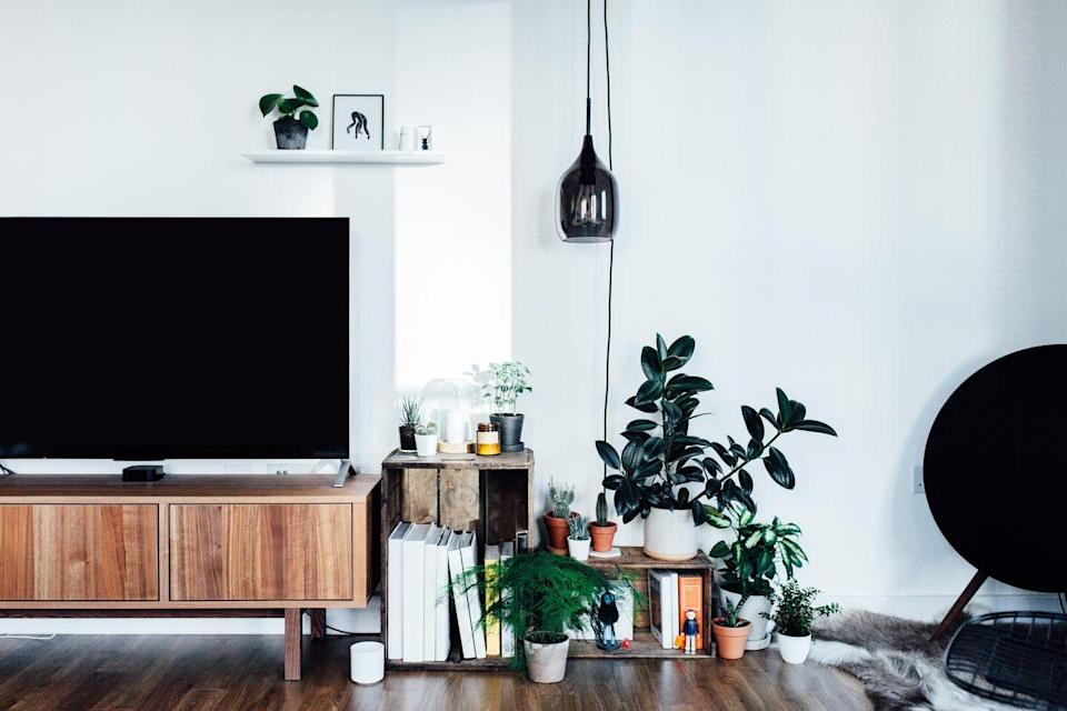 """<p>Wires really make a room feel disorganised, no matter how clean and tidy it is. But you don't have to start drilling into walls to get them out of sight. If you've got numerous cables in one place - such as your TV or office desk - think about <a href=""""https://www.amazon.co.uk/YOSH-Adjustable-Neoprene-Management-Protector-Cord-Organizer/dp/B06ZZ5JN7F/ref=sr_1_6?dchild=1&keywords=Cable+Tidy&qid=1631805696&sr=8-6&tag=hearstuk-yahoo-21&ascsubtag=%5Bartid%7C1919.g.3725%5Bsrc%7Cyahoo-uk"""" rel=""""nofollow noopener"""" target=""""_blank"""" data-ylk=""""slk:cable management sleeves"""" class=""""link rapid-noclick-resp"""">cable management sleeves</a> or a <a href=""""https://www.amazon.co.uk/D-Line-Extension-Electrical-Management-Electrically-Safe/dp/B00AQJ6V4O/ref=sr_1_1_sspa?crid=GGYADA9R229P&dchild=1&keywords=cable+tidy+box&qid=1631805729&sprefix=Cable+Tidy+%2Caps%2C206&sr=8-1-spons&psc=1&spLa=ZW5jcnlwdGVkUXVhbGlmaWVyPUEyU0lORzhCTFhXOFFCJmVuY3J5cHRlZElkPUExMDE5ODczMzJXWDdETEc0Vk5EVSZlbmNyeXB0ZWRBZElkPUEwMzQ4MTIzSzZKTlgwSzAwWjlJJndpZGdldE5hbWU9c3BfYXRmJmFjdGlvbj1jbGlja1JlZGlyZWN0JmRvTm90TG9nQ2xpY2s9dHJ1ZQ%3D%3D&tag=hearstuk-yahoo-21&ascsubtag=%5Bartid%7C1919.g.3725%5Bsrc%7Cyahoo-uk"""" rel=""""nofollow noopener"""" target=""""_blank"""" data-ylk=""""slk:cable tidy box"""" class=""""link rapid-noclick-resp"""">cable tidy box</a>, that way it'll all just be part of the furniture.</p><p><a class=""""link rapid-noclick-resp"""" href=""""https://www.amazon.co.uk/D-Line-Extension-Electrical-Management-Electrically-Safe/dp/B0076XD7HC?ref_=ast_sto_dp&th=1&psc=1&tag=hearstuk-yahoo-21&ascsubtag=%5Bartid%7C1919.g.3725%5Bsrc%7Cyahoo-uk"""" rel=""""nofollow noopener"""" target=""""_blank"""" data-ylk=""""slk:SHOW NOW"""">SHOW NOW</a></p>"""