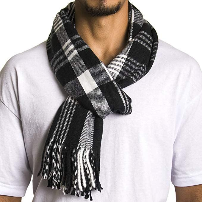 <p>He'll reach for this <span>Alpine Swiss Plaid Scarf</span> ($10) every day of Winter.</p>