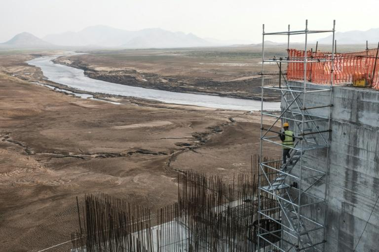 The Grand Ethiopian Renaissance Dam, pictured under construction in December 2019, will be Africa's largest hydropower plant