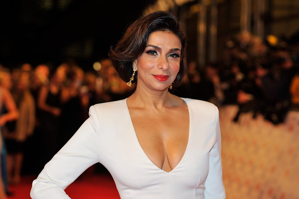LONDON, ENGLAND - JANUARY 23:  (EMBARGOED FOR PUBLICATION IN UK TABLOID NEWSPAPERS UNTIL 48 HOURS AFTER CREATE DATE AND TIME. MANDATORY CREDIT PHOTO BY DAVE M. BENETT/GETTY IMAGES REQUIRED)    Shobna Gulati attends the the National Television Awards at 02 Arena on January 23, 2013 in London, England.  (Photo by Dave M. Benett/Getty Images)