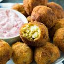 "<p>If your family is the type that loves fried food, this recipe is for you.</p> <p><strong>Get the recipe:</strong> <a href=""https://spicysouthernkitchen.com/deep-fried-stuffing/"" class=""link rapid-noclick-resp"" rel=""nofollow noopener"" target=""_blank"" data-ylk=""slk:deep-fried stuffing"">deep-fried stuffing</a></p>"