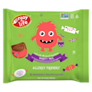 """<p>You may know Enjoy Life for its allergy-friendly chocolate chips, but it's now joined the world of <a href=""""https://www.popsugar.com/fitness/Vegan-Halloween-Chocolate-44018729"""" class=""""link rapid-noclick-resp"""" rel=""""nofollow noopener"""" target=""""_blank"""" data-ylk=""""slk:healthier Halloween candies"""">healthier Halloween candies</a>, too! Kids will gobble up the Dark Chocolate, Ricemilk Chocolate, and Ricemilk Chocolate Crunch bars in these <span>Enjoy Life Halloween Chocolate Minis</span> ($5).</p>"""