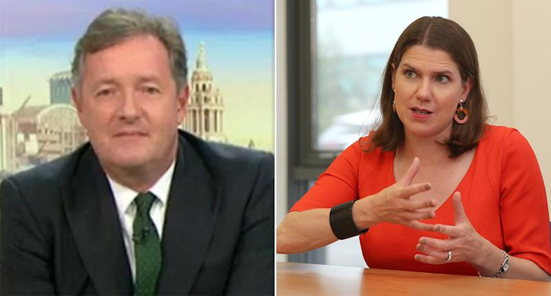 Piers Morgan criticised the Lib Dem leader for being 'undemocratic'. (PA/ ITV)