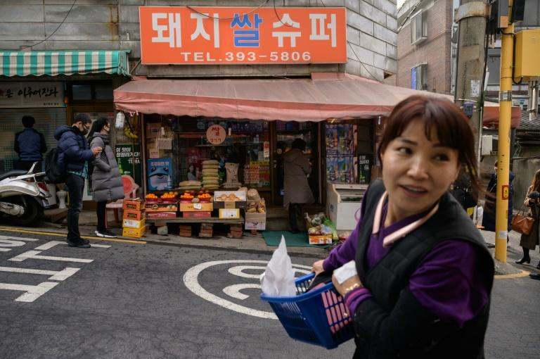 The Pig Rice supermarket in Seoul is one of the locations featured in the South Korea's Oscar-winning 'Parasite' (AFP Photo/Ed JONES)