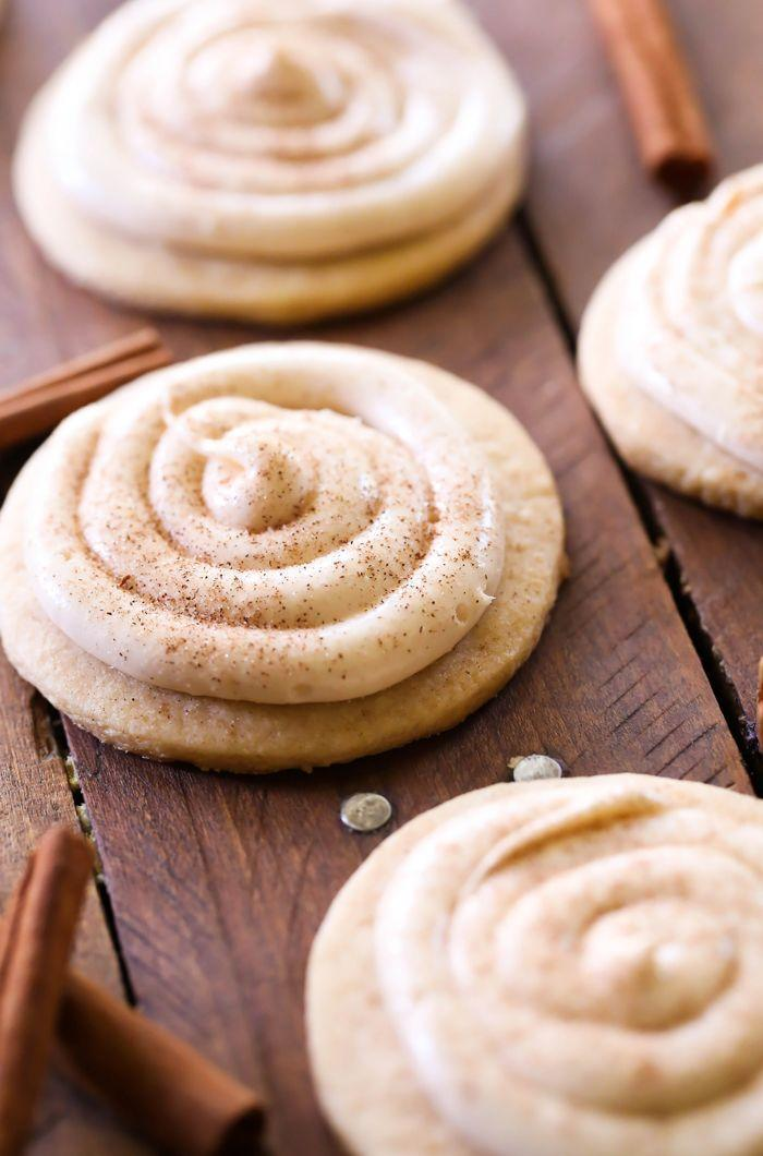 "<p>What makes this cookie spectacular is the cinnamon roll cream cheese frosting—there's nothing like it. </p><p><strong>Get the recipe at <a href=""http://www.chef-in-training.com/2015/07/cinnamon-roll-sugar-cookies-recipe/"" rel=""nofollow noopener"" target=""_blank"" data-ylk=""slk:Chef in Training"" class=""link rapid-noclick-resp"">Chef in Training</a>.</strong></p>"