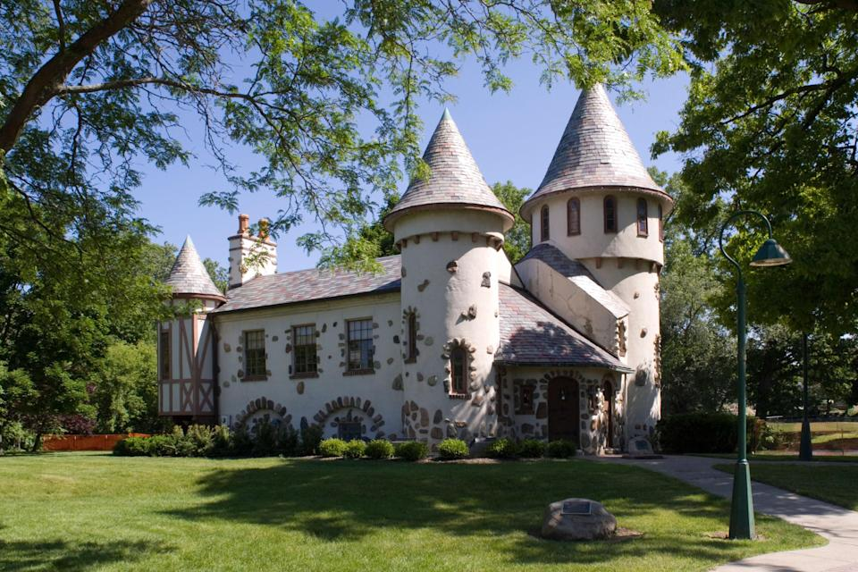 The Curwood Castle on a summer day