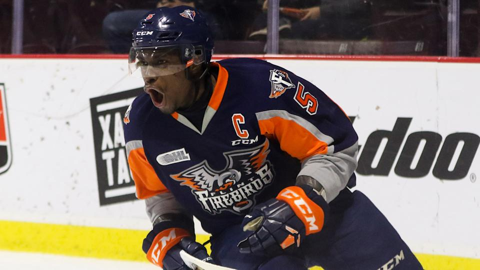 Jalen Smereck, pictured as a member of the Flint Firebirds. (Photo by Dennis Pajot/Getty Images)
