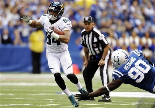 Jaguars shock Colts 22-17 with 80-yard TD pass